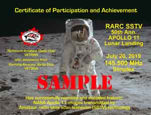 Richmond Amateur Radio Club - SSTV Apollo 11 50th Anniversary